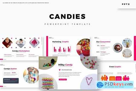 Candies Powerpoint Google Slides And Keynote Templates