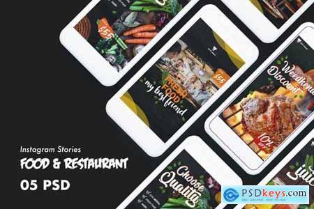 Food & Restaurants Instagram Stories PSD Template