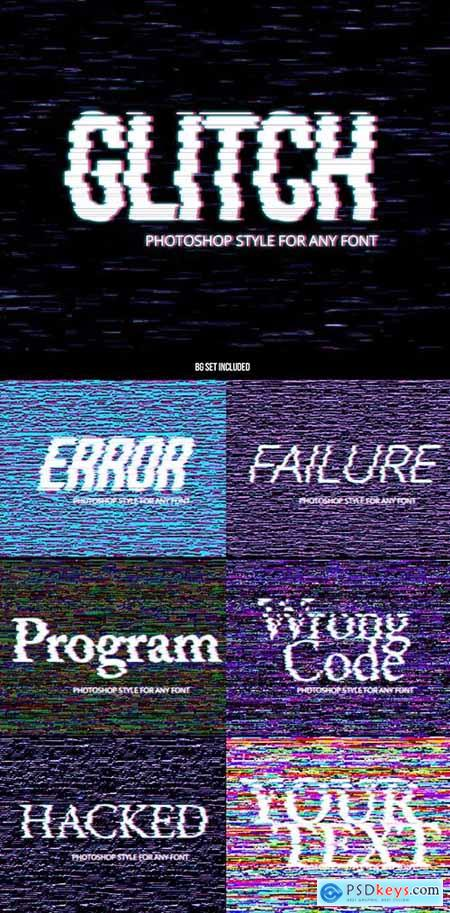 Glitch Text Effect Style 233079565