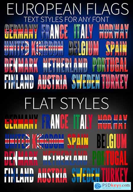 European Flags Text Styles 220295329