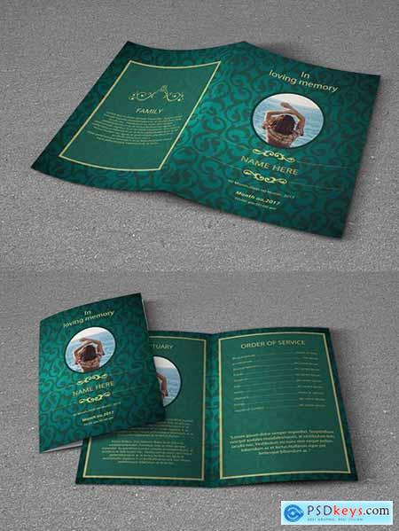 Funeral Program Bi-Fold Layout 222339181