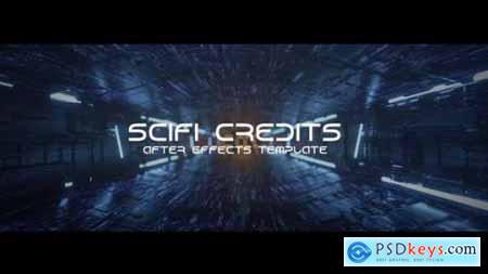 Videohive Sci-fi Tunnel Credits 25354049