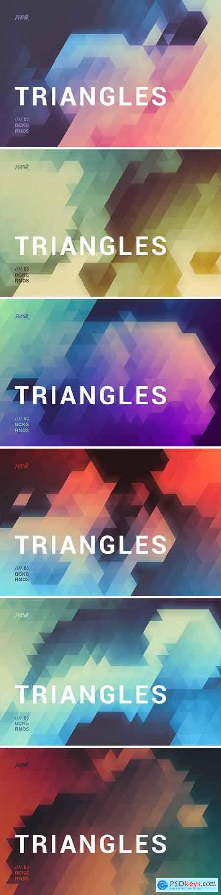 Blurry Triangles Backgrounds