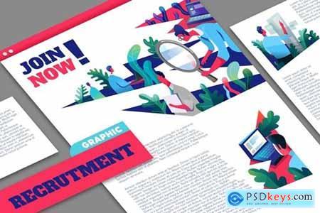 Recruitment process graphic mockup