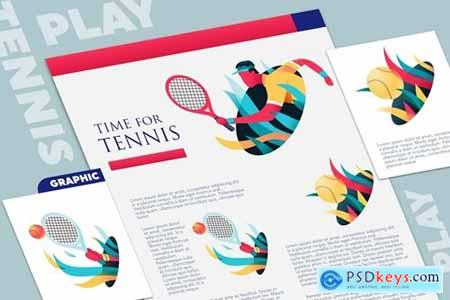Tennis event graphic mockup