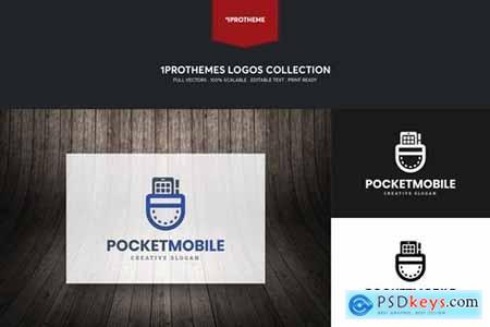 Pocket Mobile Logo Template