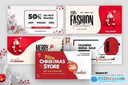 Merry Christmas Set of Banners Template 2020