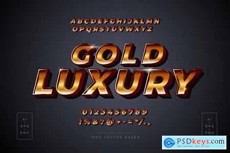 3D Golden Luxury Letters
