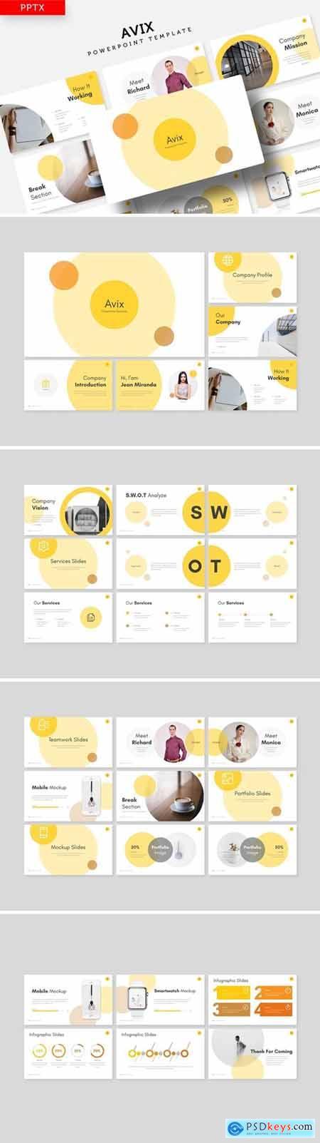 Avix Powerpoint, Keynote and Google Slides Templates