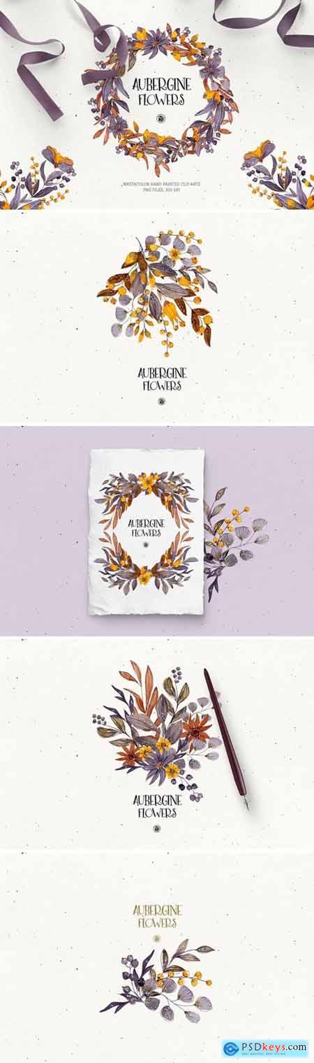 Aubergine Flowers