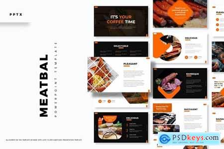 Meatbal Powerpoint, Keynote and Google Slides Templates
