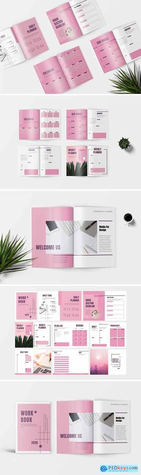 Pinkle - Minimalist Workbook Template