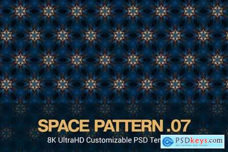 8K UltraHD Seamless Space Pattern Background