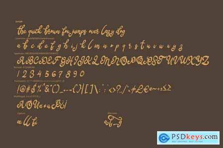 Bafera Classico Script Font
