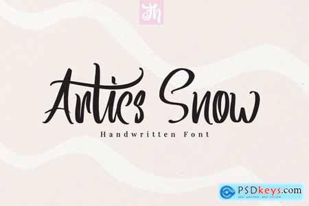 Artics Snow - Handwritten Font