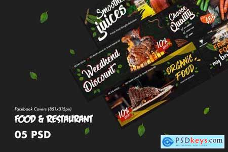 Food & Restaurants Facebook Cover PSD Template