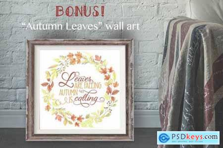Falling Leaves Autumn Clip Art