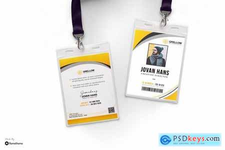 Grellow - Creative Business Id Card HR