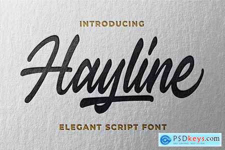 Hayline - Elegant Script Font 4419725
