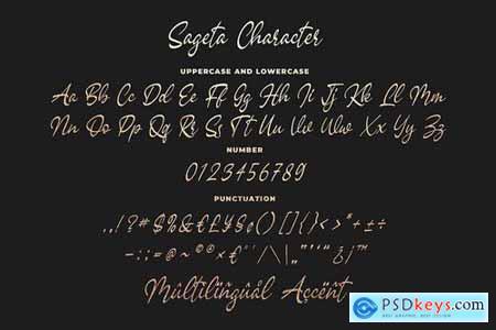 Sageta - Luxury Script Font