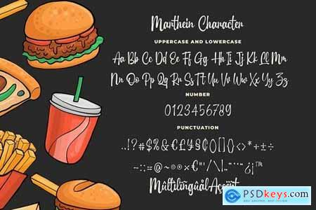 Marthein - Delicious Font