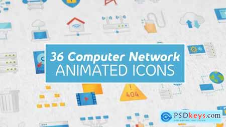 Videohive Computer Network Modern Flat Animated Icons 25337148