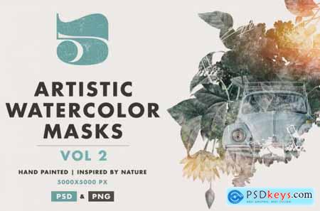 5 Artistic Watercolor Masks Vol 02