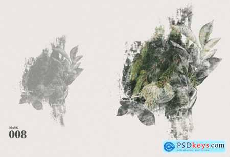 5 Artistic Watercolor Masks Vol 02