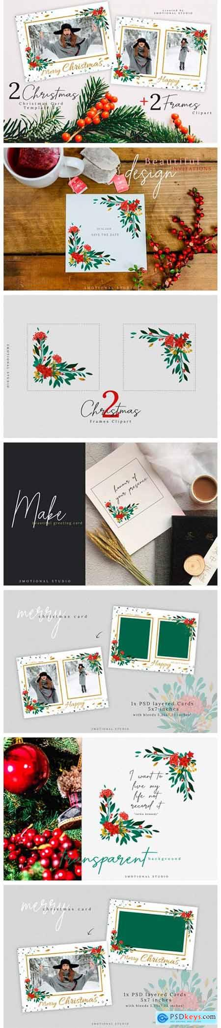 Merry Christmas Card Template 5x7 2363716
