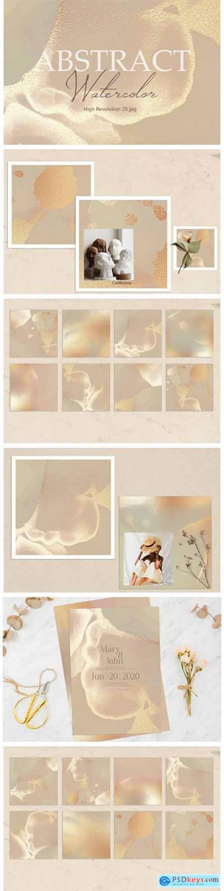 Gold Watercolor Background 2362935