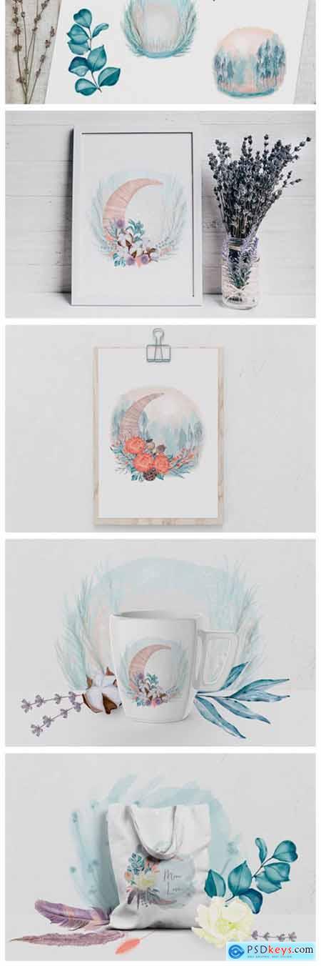 Winter Decoration Set 2138226