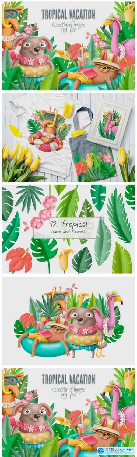 Tropical Vacation Clipart 2363302