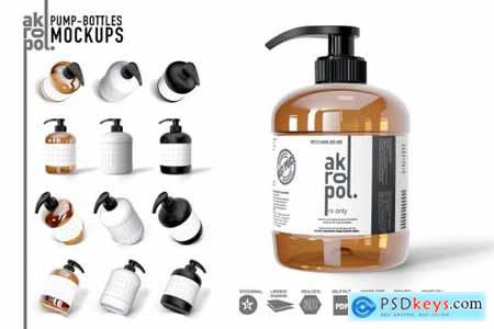 PUMP BOTTLES MOCK UP 4287067