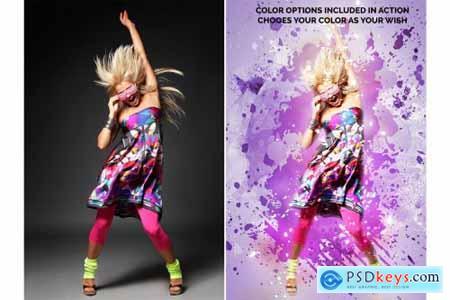 Color Blast Photoshop Action 4406654