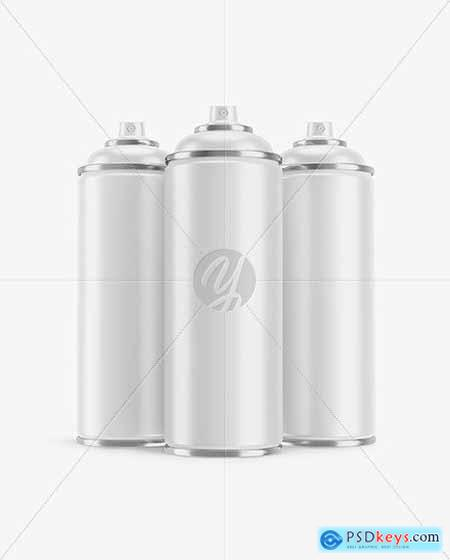 3 Matte Spray BottlesMockup 51701