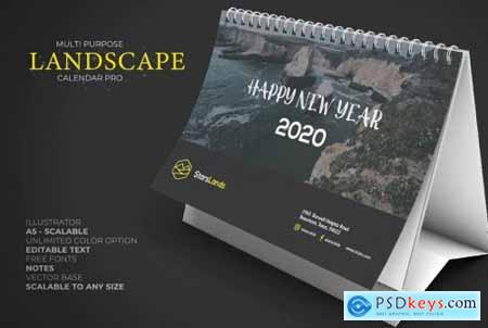 2020 Nature Calendar Desk Pro