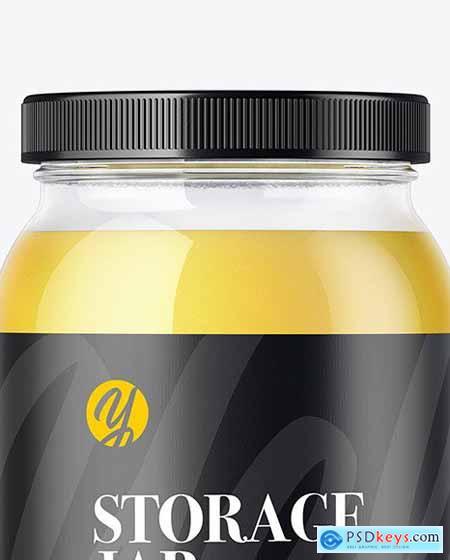 Ghee Glass Storage Jar Mockup 51713