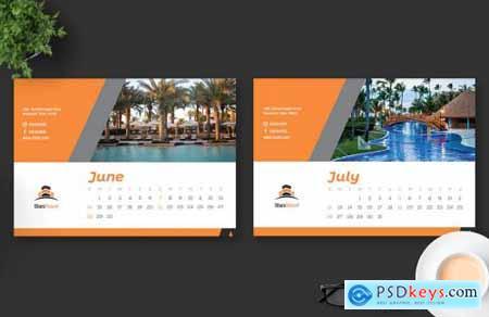 2020 Resort Hotel Calendar Desk Pro