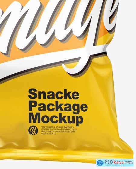 Glossy Snack Package Mockup 51697