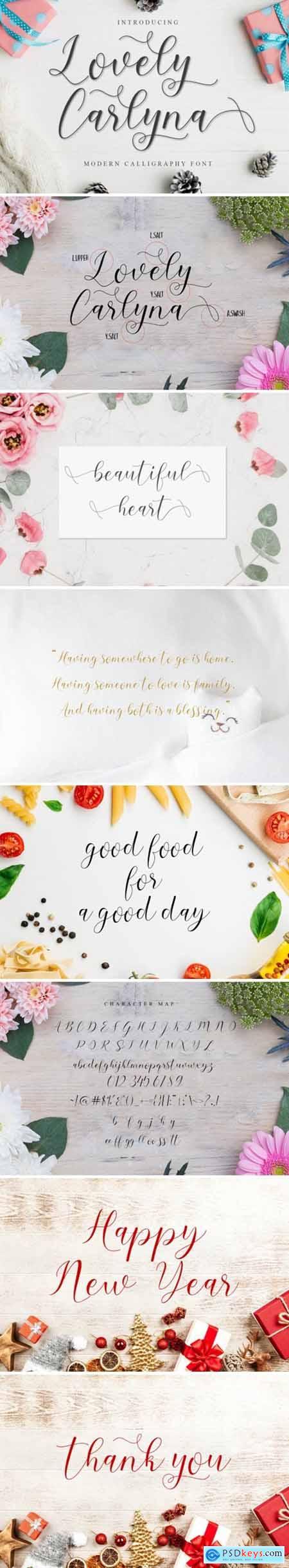 Lovely Carlyna Font