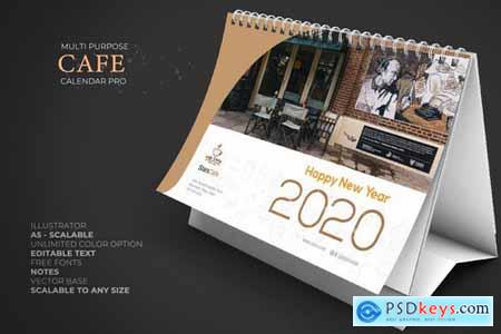 2020 Cafe - Coffee Calendar Desk Pro