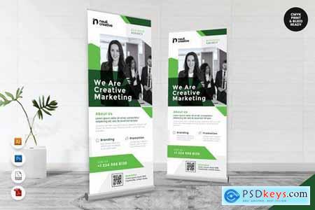 Creative Roll Up Banner AI & PSD Templates