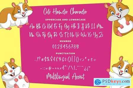 Cute Hamster - Playful Font