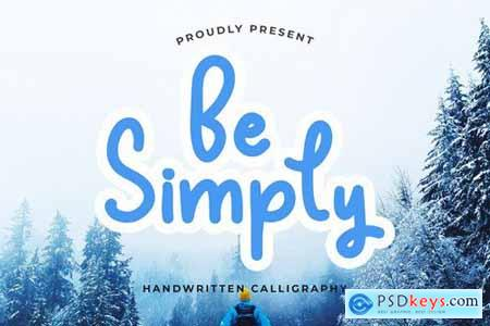 Be Simply Monoline Calligraphy Font 4417122