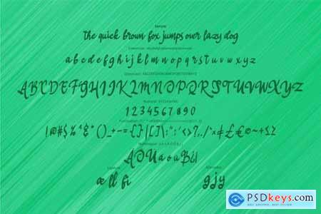Hilles Script Font Style