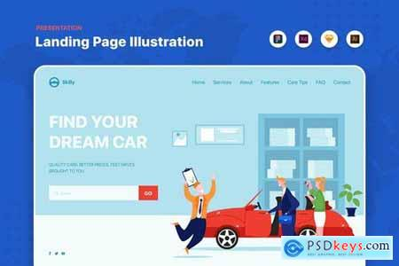 Website Header and Landing Page Templates Pack
