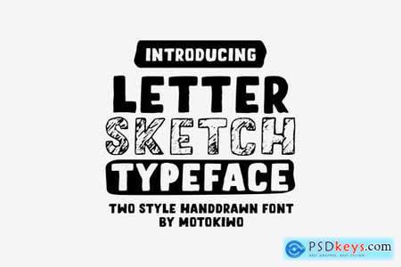 Letter Sketch Typeface