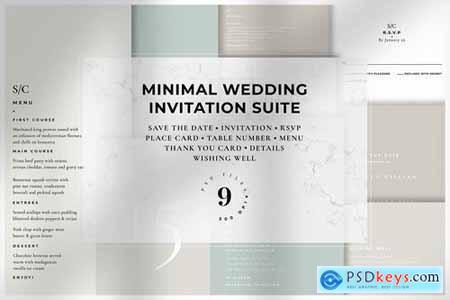 Minimal Wedding Invitation Suite