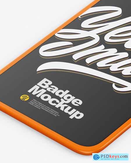Matte Badge Holder Mockup 51474