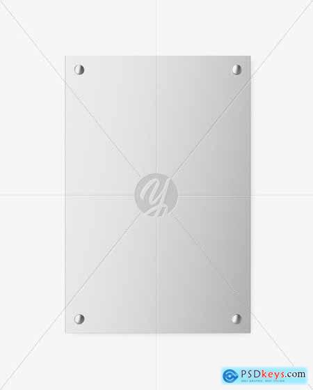 Metallic Nameplate Mockup 51531
